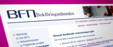 Nya best�mmelser om bokf�ring fr�n Bokf�ringsn�mnden