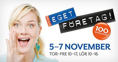 Besök oss på Eget Företag i Stockholm 5–7 november