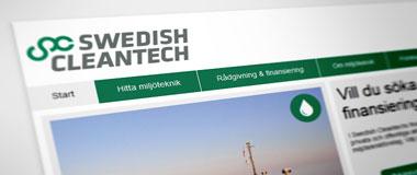 Ny sajt för svenska miljöteknikföretag